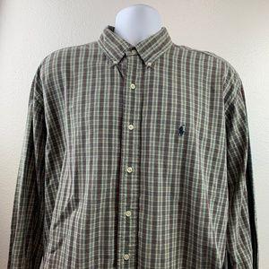 Polo Ralph Lauren Men Button Front Casual Shirt XL